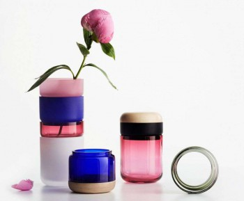 Colored vase